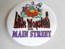 "VINTAGE 3"" PROMO PINBACK BUTTON #92-101 - DISNEY -LITTLE MONSTERS ON MAIN STREET"