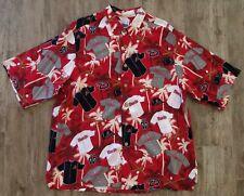 Reyn Spooner Red Arizona Diamond Backs Hawaiian Camp Shirt-XL DBacks