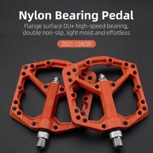 ROCKBROS Mountain Bike Pedals Widen Nylon Fiber Bicycle Bearing Platform Pedals