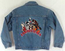 Looney Tunes Denim Jean Jacket Youth Medium Kid Warner Bros Embroidered Coat