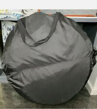 Black Pop Up Spray Tanning Tent - Professional Mobile Spray Tan Cubicle