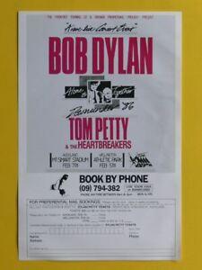 BOB DYLAN & TOM PETTY 1986 MAILING HANDBILL