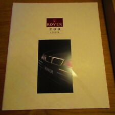 ROVER 200 214 216 218D SLi Saloon 220 Turbo Coupe Cabriolet Brochure 1993-1994