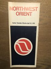 1974 Northwest Orient Airlines airways 747 727