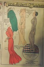 Jane Arden Sunday with Large Uncut Paper Doll from 1/6/1935 Full Size Page!