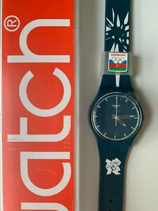 Olympic Swatch London 2012 Watch in box Azerbaijan NOC Limited Edition Rare NEW