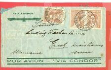 Argentina Block of 10 ++ used on Vi CONDOR Cover 1936