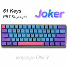 61Keys ANSI-Layout OEM Profile PBT Thick Keycaps Cap for 60% Mechanical Keyboard