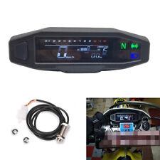 Scooter Motorcycle Dirt Bike LCD Digital Speedometer Odometer 199 km/h 1200 rpm
