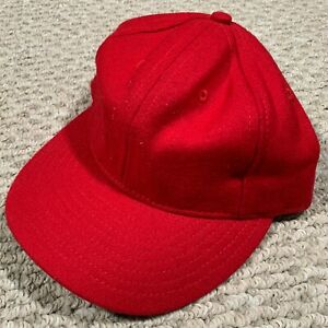 Ebbets Field Flannels Homage Columbus Ohio Wool Baseball Hat Red Size 7 1/4