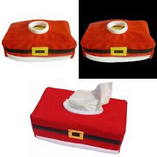 Kosmetiktücherbox Kosmetik Taschentuchbox Kosmetiktuchspender Weihnachten ROT