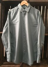 GENUINE HUGO BOSS SLIM FIT FORMAL GREY COTTON SHIRT MENS L