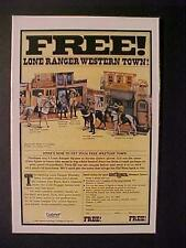 ORIGINAL~COWBOY WESTERN LONE RANGER ACTION FIGURES TOY ART PRINT AD~1982 VINTAGE