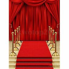5x7FT Vinyl Red Carpet Curtain Backdrop Photography Background Photo Studio Prop