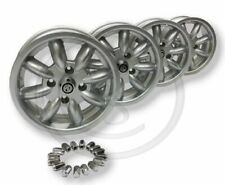 "BEK152 - MGB & GT - 14"" BOLT ON ALLOY WHEELS WITH WHEEL NUTS - SET OF FOUR"