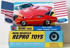 Hot Wheels 1972 FORD GRAN TORINO SPORT Diecast Model Car in Custom Display & Box