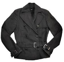 Hugo Boss Jacket Women sz.6 Small 36 Casual Gray Blazer Design Coat Belt Cotton