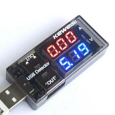 1pcs Current Voltage USB Charging Detector Battery Tester Voltmeter Ammeter s499