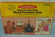 """VINTAGE REALIFE MINIATURES DOLL HOUSE FURNITURE KIT COUNTRY KITCHEN SCALE 1""""=1'"""