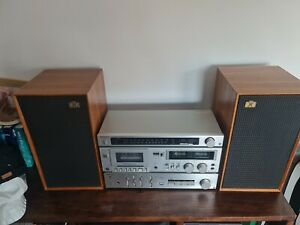Vintage Technics Stack System With Record Player & Speakers