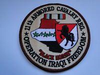 Einsatzaufnäher 11th Armored Cavalry Reg.  Operation IRAQI FREEDOM ca  10  cm
