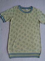 Next Fine Knit Short Sleeve Pastel Green Geometric Smart Work Jumper Top Size 8