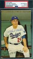 Walt Alston PSA DNA Coa Autograph Hand Signed Photo Dodgers Postcard