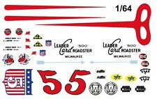 #5 Rodger Ward Leader Card Special Indy Roadster 1/64th HO Scale Slot Car Decals