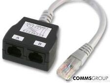 CAT5e RJ45 Network Cable Splitter Economiser Voice / Voice Pack of 10
