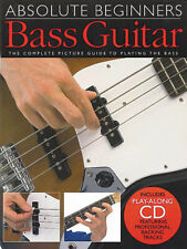 Absolute Beginners for Bass Guitar Lessons Learn to Play Music Tab Book CD Pack