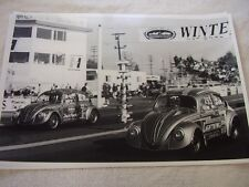1960 'S? VOLKSWAGEN VW BUGS AT WINTER NATIONALS  12 X 18 LARGE PICTURE   PHOTO