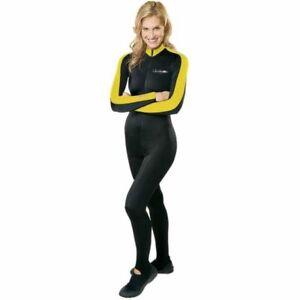 Yellow Henderson Hot Skin Suit Scuba Dive Lycra UV Jumpsuit Unisex XS X SMALL