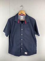 Superdry Men's Short Sleeved Button Up Shirt Size XL Blue