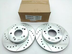 POWERSTOP SET OF 2 ROTORS Drilled and Slotted  Front Left  Right Civic CR-Z