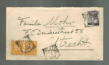 1902 Netherlands Indies Cover to Utrecht Holland 2