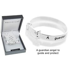 Equilibrium Silver Plated Guardian Angel Baby Bangle Christening Gifts Keepsake