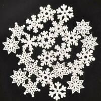 20pcs DIY Wood Snowflakes Hanging Pendant Christmas Tree Ornaments Home Decor