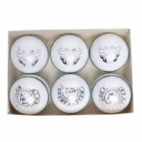 Cricket Hard Balls - Grade A  Professional Leather - Hand Stitched - White - X6