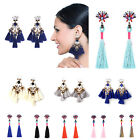 Fashion Bohemian Earrings Women Vintage Tassel Boho Rhinestone Earrings Elegant