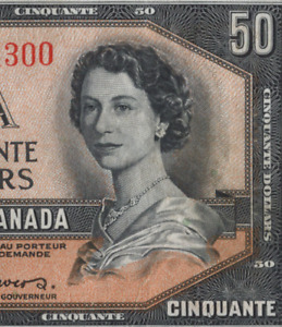 Canada 🇨🇦 1954 - $50 Dollars **Devil's Face** Coyne|Towers Sig. - VF