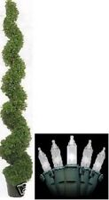 """6' 3"""" TOPIARY ARTIFICIAL OUTDOOR BOXWOOD SPIRAL TREE CHRISTMAS LIGHTS EVRGREEN"""