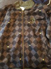 Nike Manchester United Black Warm Up Track Jacket Vtg Diamond Mens XL Rare