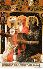 "1900 JC Leyendecker, Christmas, Three Wise Men, Art, Vintage, 20""x14"