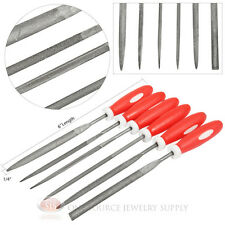 Needle File Plastic Handle 6 Piece Set Assorted Shapes Metal & Woodworking Hobby