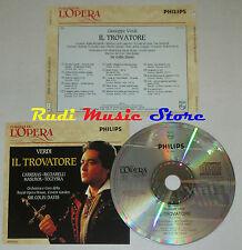 CD VERDI Il trovatore CARRERAS RICCIARELLI MASUROK DAVIS grandi opera lp mc dvd