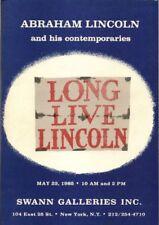SWANN Lincolniana Lincoln Memorabilia Auction Catalog