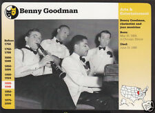 BENNY GOODMAN Jazz Band Leader Photo GROLIER STORY OF AMERICA BIO CARD