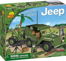 COBI - Small Army Vehicle ~ Willys MB Jeep & Mortar 180 Piece Block Set #NEW