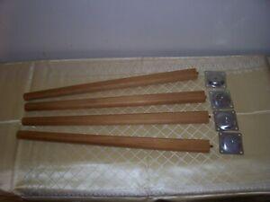 Vintage retro Set of 4  Dansette Table Legs 18 inches 99p no reserve
