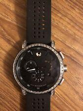 Movado Museum Black Diamond Chronograph Mens Watch